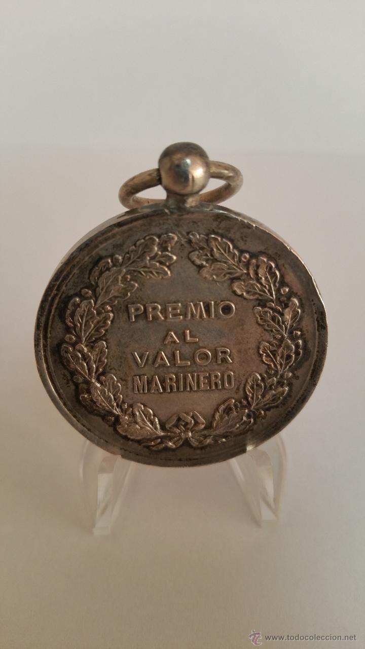 Militaria: MEDALLA DE HONOR SALVAMENTO DE BUQUES EPOCA GOBIERNO PROVISIONAL 1868 - 1870 - Foto 2 - 52432609