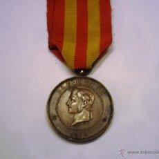 Militaria: MEDALLA DE JOLO 1876-MODELO CASA DE LA MONEDA FIRMADO ESTRUCH, CON SU CINTA CORRECTA, BUEN ESTADO. Lote 52532495