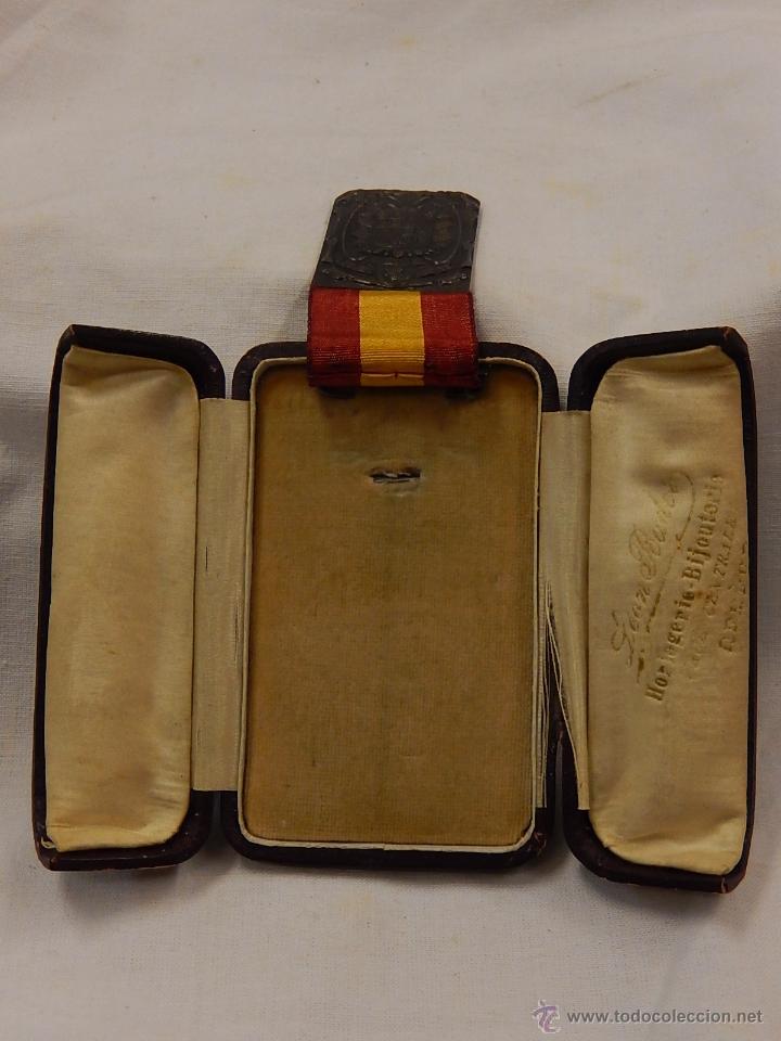 Militaria: Medalla Damas Auxiliares Sanidad Militar, con pasador Constancia. Época de Franco. - Foto 8 - 52750824