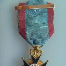 Militaria: MEDALLA DE BENEMERITO POR LA PATRIA PARA OFICIALES , EPOCA ISABEL II . SIGLO XIX . ORIGINAL .. Lote 53160817
