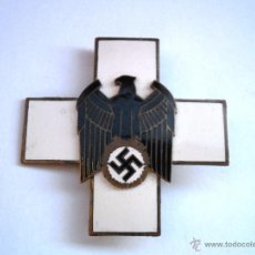 Military - Deutsche Volksplege 2 Clase-Cruz esmaltada y dorada-buen estado de conservación. - 53213149