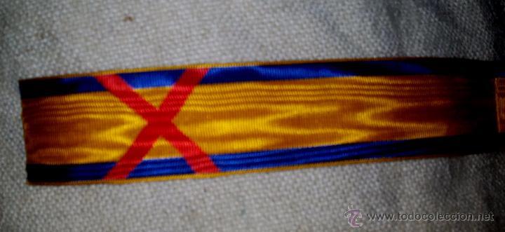 CINTA PARA LA MEDALLA DE ESPAÑA EN AFRICA,HERIDO,CORTE DE 15 CM,MUAREG,GRAN CALIDAD (Militar - Cintas de Medallas y Pasadores)