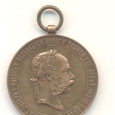 Militaria: 2/12/1873 MEDALLA DE GUERRA AUSTRIA FRANCISCO JOSÉ I DIÁMETRO: 37 MM. BONITA.. Lote 53293310