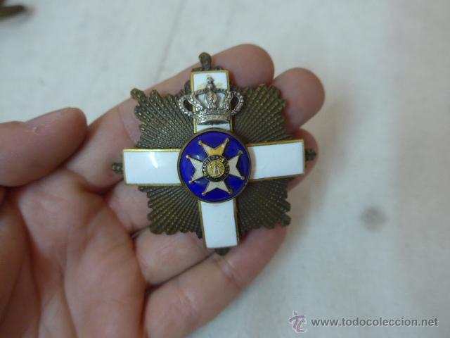 ANTIGUA PLACA MEDALLA HECHA CON VARIAS DISTINTAS, TIPO SAN FERNANDO. (Militar - Medallas Españolas Originales )