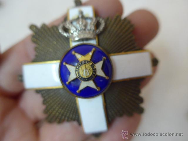 Militaria: Antigua placa medalla hecha con varias distintas, tipo san fernando. - Foto 2 - 53352497