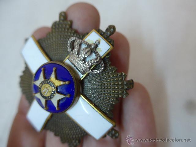 Militaria: Antigua placa medalla hecha con varias distintas, tipo san fernando. - Foto 5 - 53352497