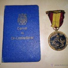 Militaria: MEDALLA DE LA CAMPAÑA CON CARNET DE EX-COMBATIENTE, CABO DE INFANTERÍA.. Lote 11008693