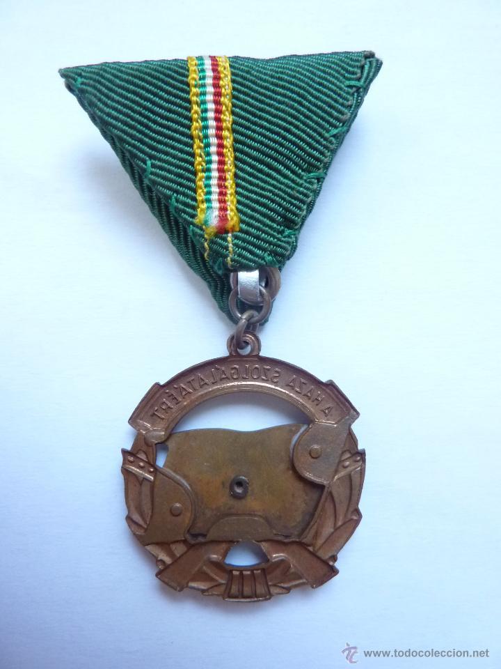 Militaria: Hungría: Medalla al mérito militar al servicio del país. Tercera clase (Categoría de bronce) - Foto 2 - 53419630
