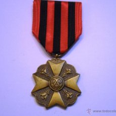 Militaria: BELGICA-MEDALLA CONDECORACIÓN CIVIL (1867-1914) CATEGORIA BRONCE-CON SU CINTA ORIGINAL Y AGUJA SUJEC. Lote 53643583