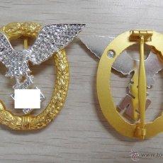 Militaria: INSIGNIA DE ORO Y DIAMANTES COMO LA DE OTTO SKORZENY. Lote 53714947