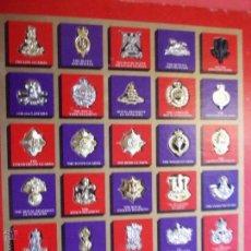 Militaria: COLECCIÓN DE INSIGNIAS MILITARES INGLESAS. Lote 53777974