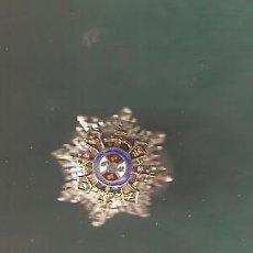Militaria: PLAQUITA SOLAPA EN PLATA MTO.EN CAMPAÑA CON BOTÓN PARA SOLAPA. Lote 111563743