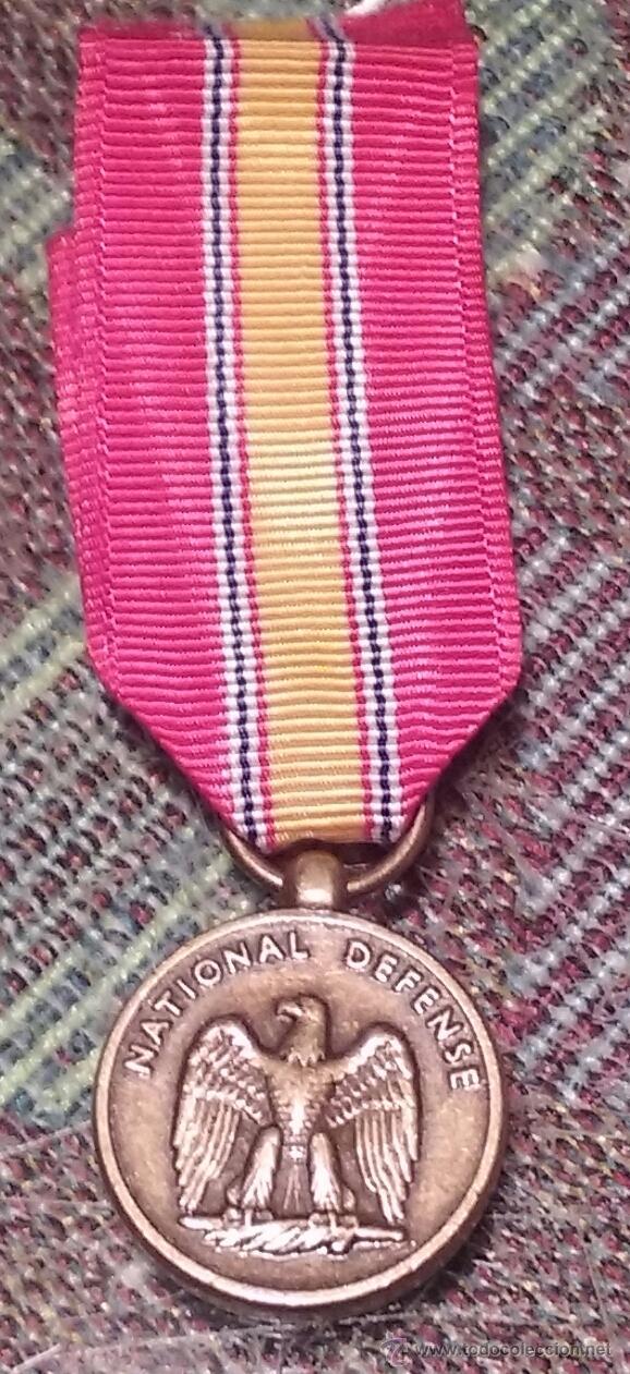 US NAVY. MINIATURA MEDALLA PARA UNIFORME DE GALA. NATIONAL DEFENSE. ORIGINAL (Militar - Medallas Internacionales Originales)