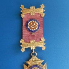 Militaria: MEDALLA MASÓNICA INGLESA. ANTEDILUMAN ROYAL ORDEN OF BUFFALOES. AÑOS 1950 / 52.. Lote 54214595