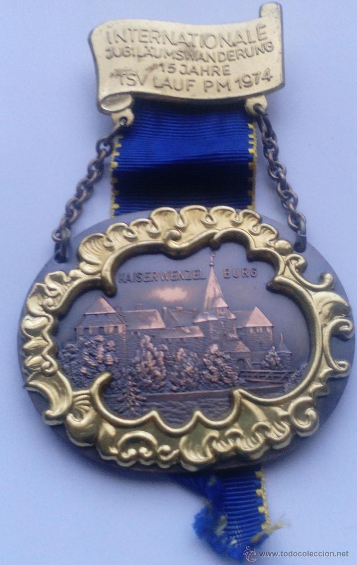 MEDALLA CASTILLO DE KAISERWENZEL BURG. ALEMANIA. 1974 (Militar - Medallas Internacionales Originales)