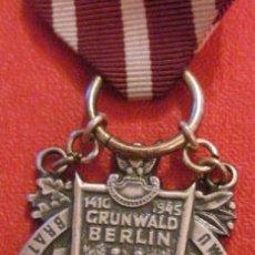 Militaria: MEDALLA MILITAR POLONIA SEGUNDA GUERRA MUNDIAL WWII 1945 GRUNWALD BERLIN DIFICIL DE CONSEGUIR. Lote 54293188