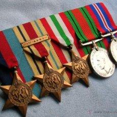 Militaria: MEDALLAS BRITANICAS. BATALLA DE INGLATERRA. CAMPAÑAS NORTE DE AFRICA E ITALIA. 2ª GUERRA MUNDIAL.. Lote 54412001