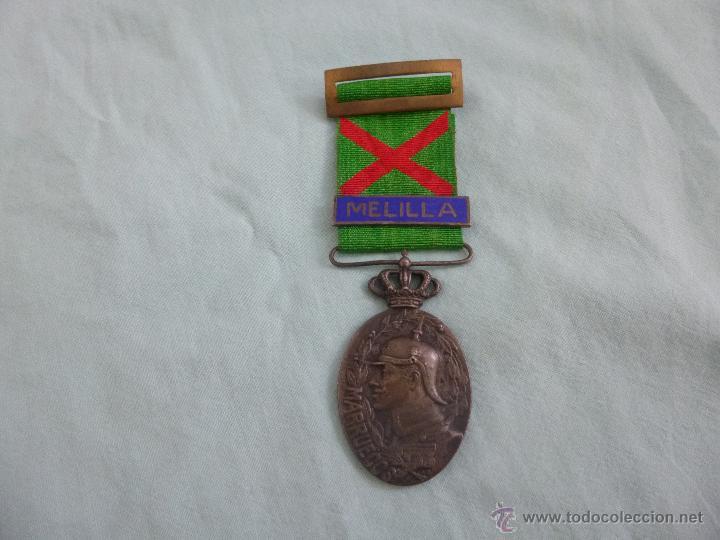 MEDALLA MARRUECOS PLATA..JEFES Y OFICIALES..PASADOR MELILLA..HERIDO..ORIGINAL. (Militar - Medallas Españolas Originales )