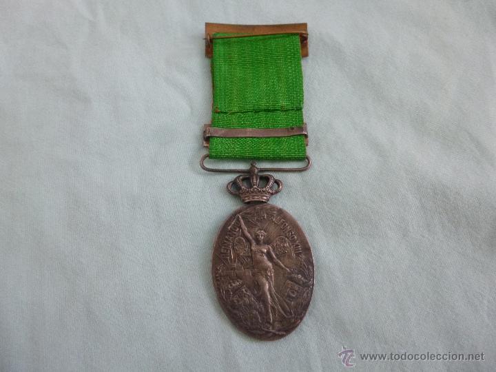 Militaria: Medalla Marruecos Plata..jefes y oficiales..pasador melilla..herido..ORIGINAL. - Foto 2 - 54580709