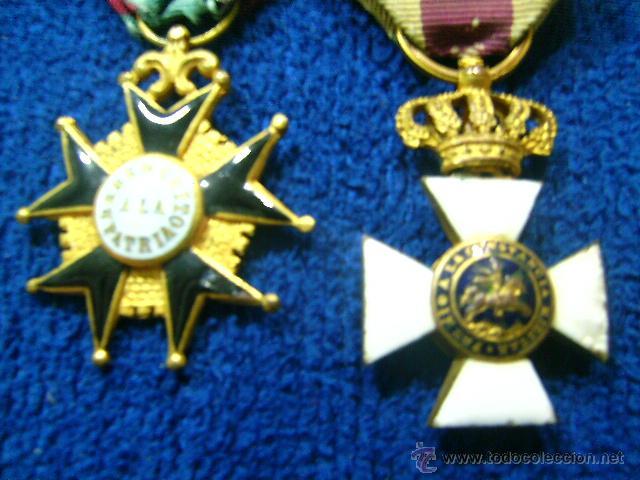 Militaria: pasador isabelino tamaño princesa benemerito a la patria y san hermenegildo - Foto 3 - 54624676