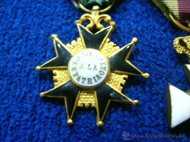 Militaria: pasador isabelino tamaño princesa benemerito a la patria y san hermenegildo - Foto 4 - 54624676