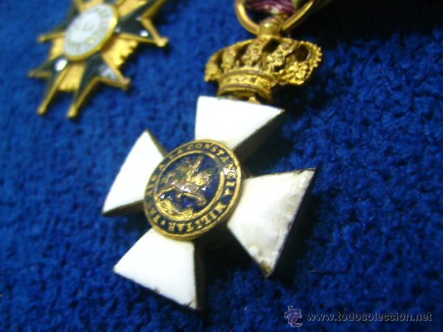 Militaria: pasador isabelino tamaño princesa benemerito a la patria y san hermenegildo - Foto 5 - 54624676