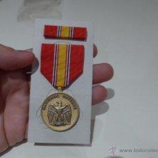 Militaria - Antigua medalla original americana, national defense, estados unidos - 54741464