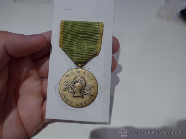 ANTIGUA MEDALLA ORIGINAL AMERICANA, WOMENS ARMY CORPS, ESTADOS UNIDOS (Militar - Medallas Extranjeras Originales)