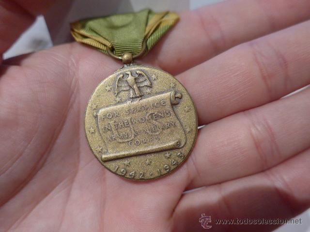 Militaria: Antigua medalla original americana, womens army corps, estados unidos - Foto 3 - 54741554