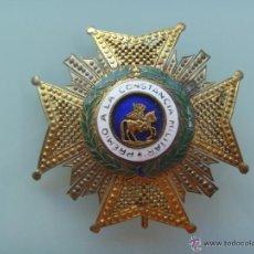 Militaria: GRAN PLACA DE SAN HERMENEGILDO . EPOCA DE FRANCO , CALADA ( PLATA DORADA ?). Lote 54775339