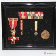 Militaria: PLAFÓN CON CONDECORACIONES Y PASADORES DE LA GUERRA CIVIL. ESPAÑA. 1939. Lote 47970607