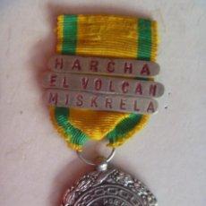 Militaria: GUERRA AFRICA : MEDALLA SUFRIMIENTO POR LA PATRIA , TRES CONSECIONES: HARCHA, ETC. BAÑO PLATA. Lote 54997017
