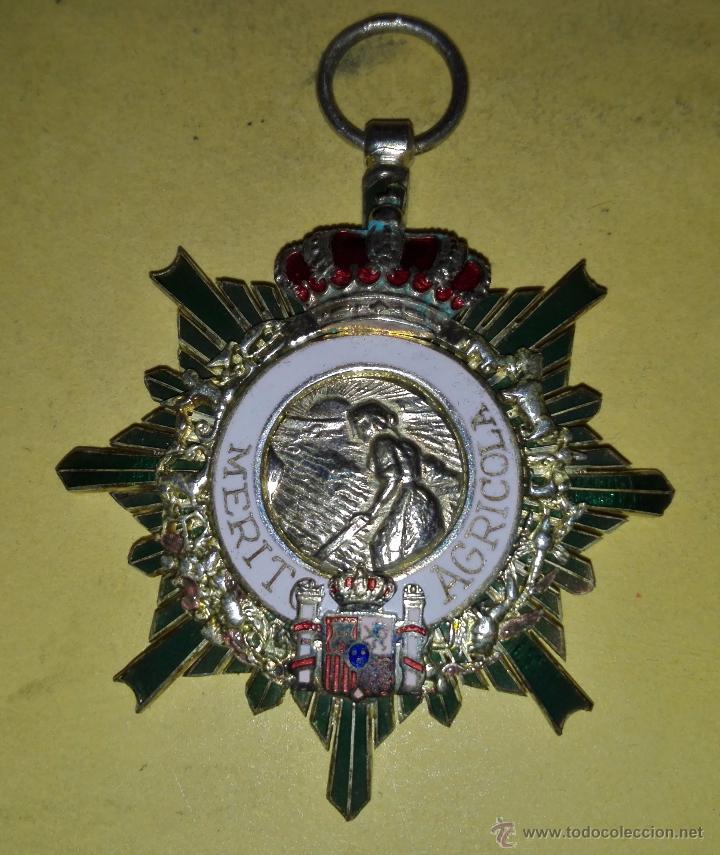ENCOMIENDA DE LA ORDEN AL MERITO AGRICOLA EN PLATA DE LEY CASA CEJALVO (Militar - Medallas Españolas Originales )