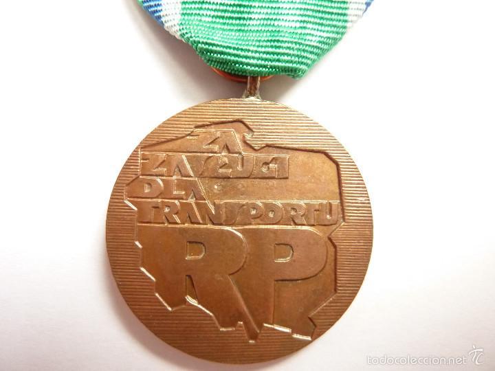 POLONIA: MEDALLA DEL MÉRITO EN EL TRANSPORTE (CATEGORÍA DE BRONCE). ÉPOCA ACTUAL (Militar - Medallas Extranjeras Originales)