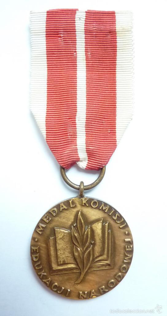 POLONIA: MEDALLA DEL MÉRITO DE LA COMISIÓN EDUCATIVA NACIONAL - MINISTERIO POLACO DE EDUCACIÓN (Militar - Medallas Extranjeras Originales)
