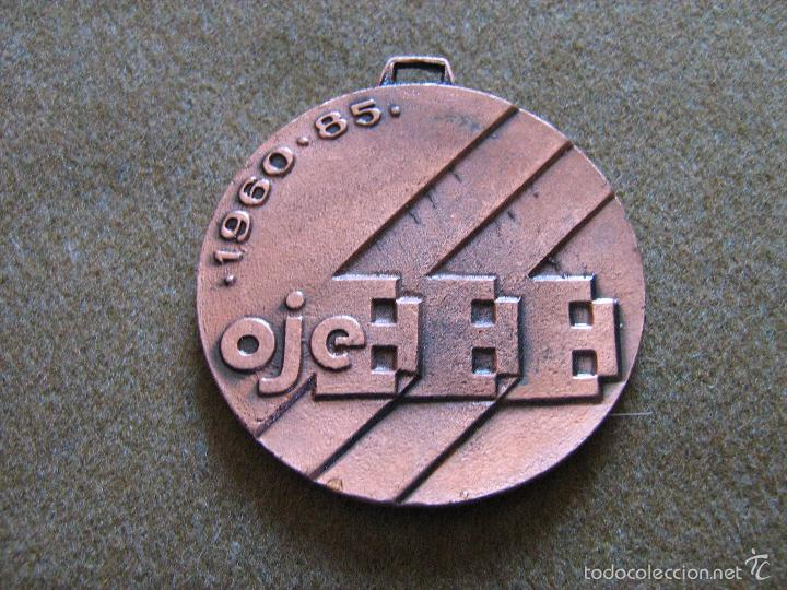 MEDALLA 25 ANIVERSARIO DE LA OJE - 1960/1985 - FALANGE - 5 CM (Militar - Medallas Españolas Originales )
