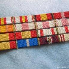 Militaria: PASADOR DE DIARIO CON 16 CONDECORACIONES. GUERRA CIVIL, MARIA CRISTINA, SAN HERMENEGILDO.... Lote 55234738