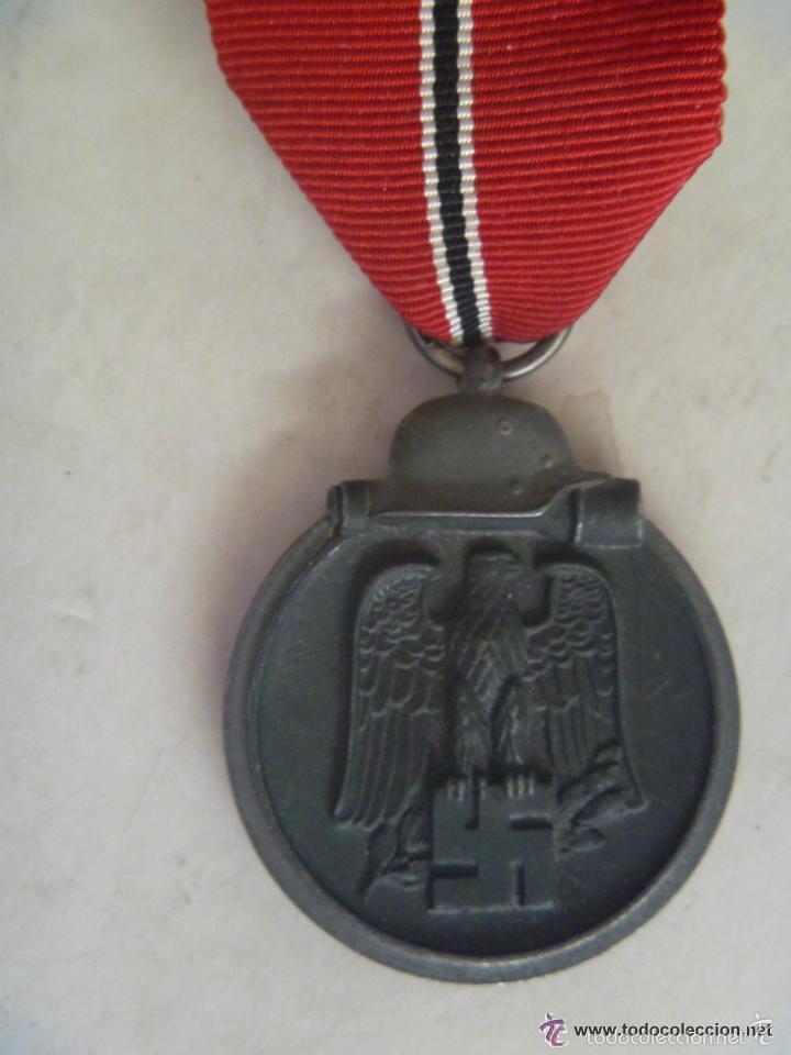 DIVISION AZUL : MEDALLA ALEMANA DEL 1º INVIERNO EN RUSIA , MARCADA Nº 60 EN ANILLA (Militar - Medallas Internacionales Originales)