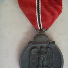 Militaria: DIVISION AZUL : MEDALLA ALEMANA DEL 1º INVIERNO EN RUSIA , MARCADA Nº 60 EN ANILLA. Lote 55304826