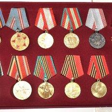 Militaria: LOTE 2 DE 12 MEDALLAS SOVIETICOS .URSS. Lote 148882244