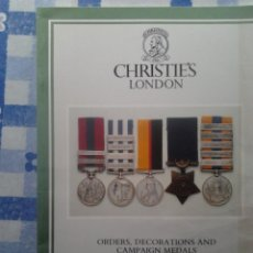 Militaria: SUBASTA CHRISTIES LONDON ORDERS DECORATIONS AND CAMPAIGN MEDALS, MARZO 1988. Lote 56049924