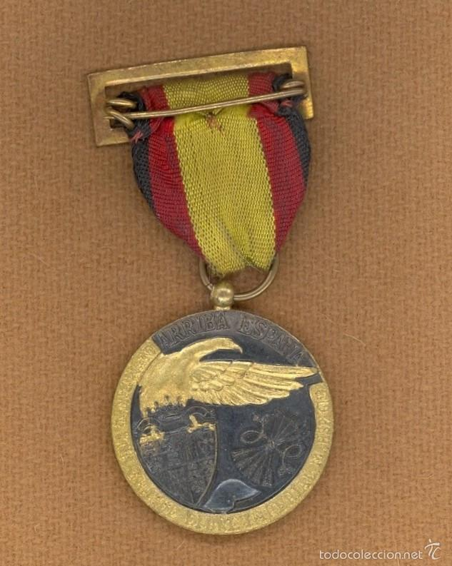 Militaria: MEDALLA DE LA CAMPAÑA, 1938, ESPAÑA, C.T.V., LEGION CONDOR, GUERRA CIVIL ESPAÑOLA, DIVISION AZUL. - Foto 2 - 56418932