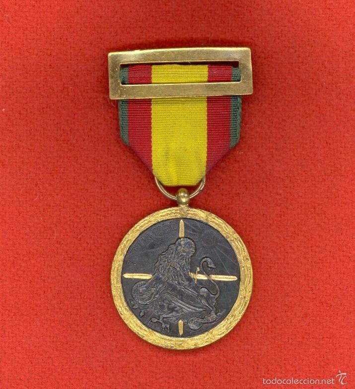 MEDALLA DE LA CAMPAÑA 1938, ESPAÑA, C.T.V. Y LEGION CONDOR, GUERRA CIVIL ESPAÑOLA, DIVISION AZUL. (Militar - Medallas Españolas Originales )
