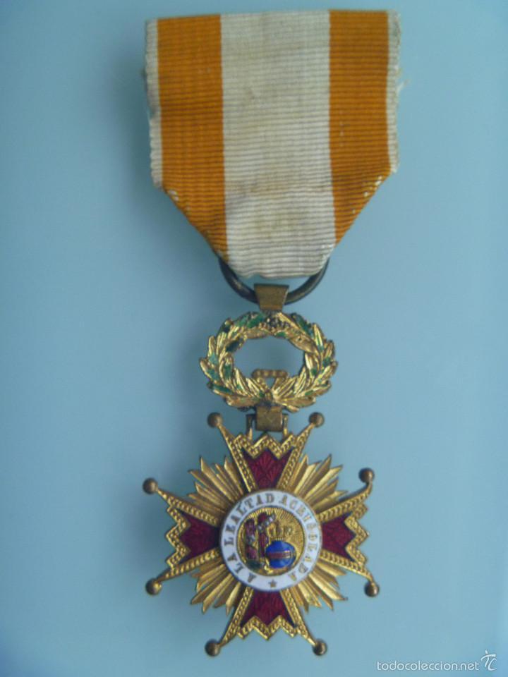 MEDALLA DE LA LEALTAD ACRISOLADA , POR ISABEL LA CATÓLICA , SIGLO XIX (Militar - Medallas Españolas Originales )