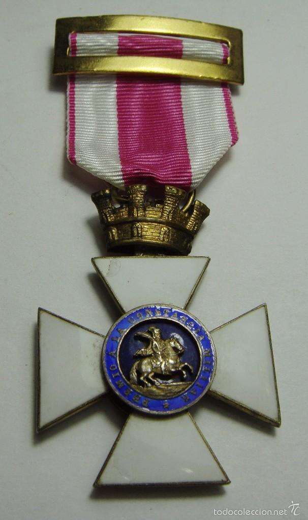 CRUZ DE LA ORDEN DE SAN HERMENEGILDO. REPÚBLICA. (Militar - Medallas Españolas Originales )