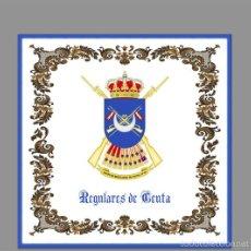 Militaria: AZULEJO 10X10 DE LOS REGULARES DE CEUTA. Lote 57032996