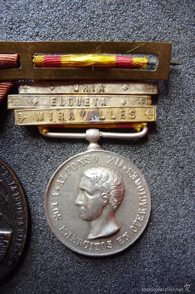 Militaria: (JX-1440)Pasador con las medallas de Bilbao (G.C.747) y Alfonso XII (G.C.756) . Guerras Carlistas . - Foto 4 - 57154128