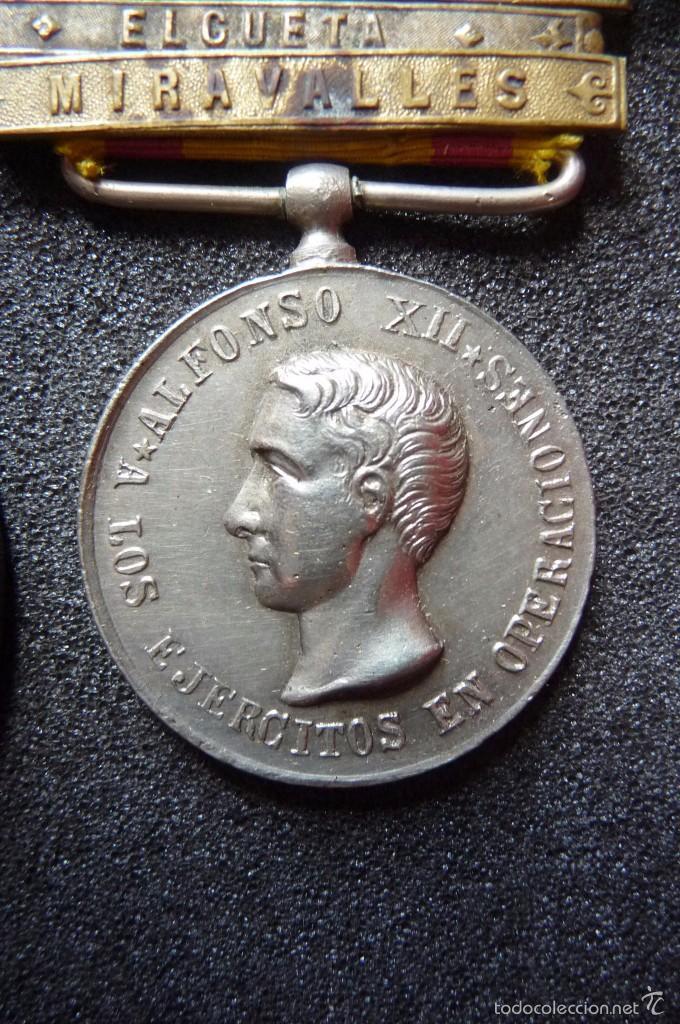 Militaria: (JX-1440)Pasador con las medallas de Bilbao (G.C.747) y Alfonso XII (G.C.756) . Guerras Carlistas . - Foto 5 - 57154128