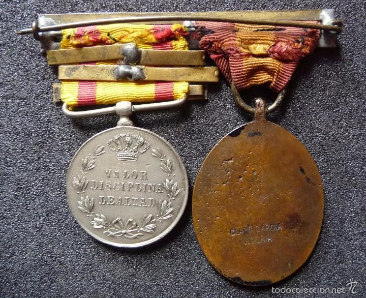 Militaria: (JX-1440)Pasador con las medallas de Bilbao (G.C.747) y Alfonso XII (G.C.756) . Guerras Carlistas . - Foto 7 - 57154128