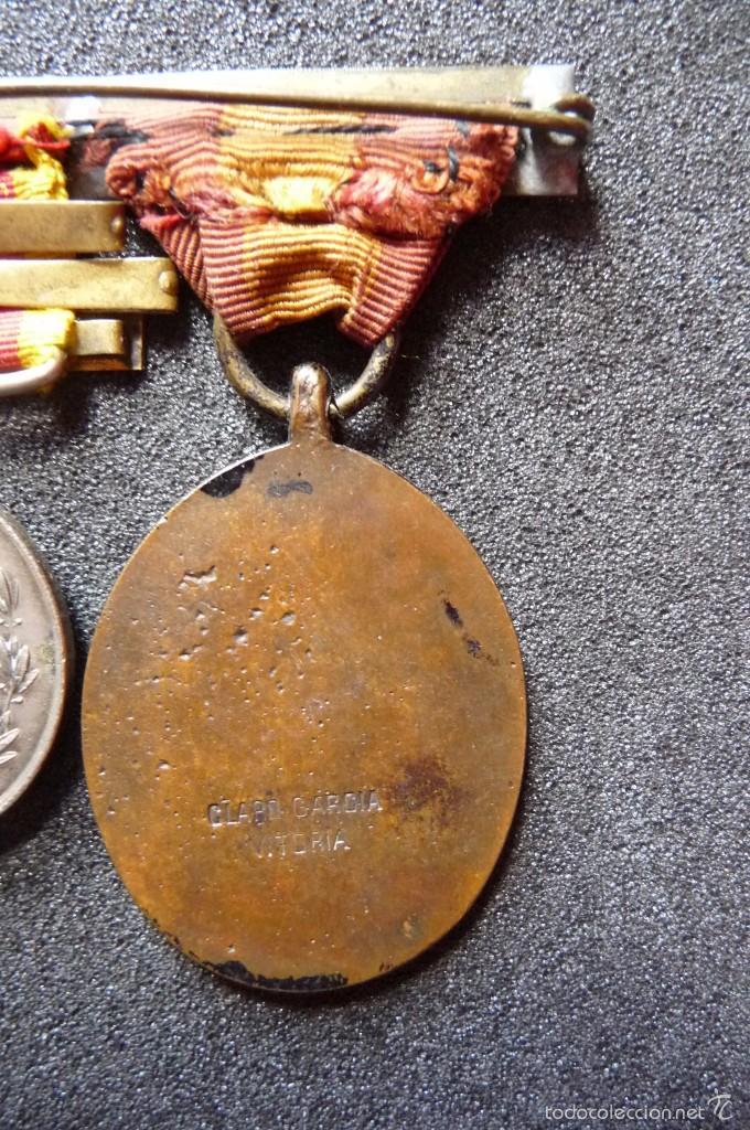 Militaria: (JX-1440)Pasador con las medallas de Bilbao (G.C.747) y Alfonso XII (G.C.756) . Guerras Carlistas . - Foto 9 - 57154128